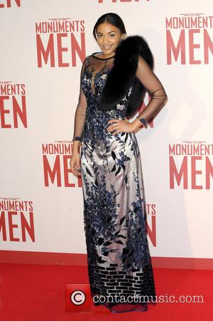 Amal Fashanu - UK Film Premiere of 'The Monuments Men' held at the Odeon Leicester Square - Arrivals - London,...