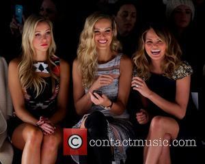 Katrina Bowden, Petra Němcová and Christine Teigen - Mercedes-Benz New York Fashion Week Fall/Winter 2014 - Badgley Mischka - Front...