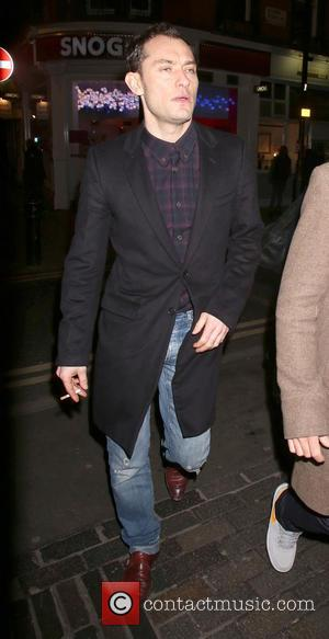 Jude Law - The Box 3rd birthday party - Arrivals - London, United Kingdom - Wednesday 12th February 2014