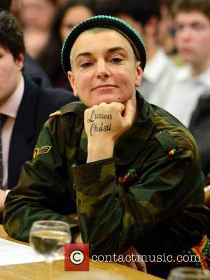 Sinead O'Connor - Sinead O'Connor at Trinity College dressed in camouflage. O'Connor is on hand to debate on the Catholic...