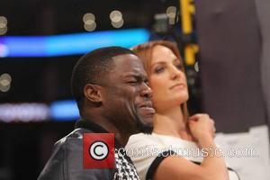 Kevin Hart - Celebrities at the Los Angeles Lakers v Oklahoma City Thunder NBA basketball game at the Staples Center....