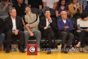 Ryan Seacrest - Celebrities at the Los Angeles Lakers v Oklahoma City Thunder NBA basketball game at the Staples Center....