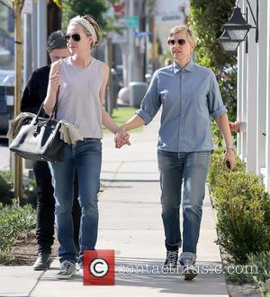 Ellen DeGeneres and Portia de Rossi - Ellen DeGeneres and wife Portia de Rossi out for a Valentine's Day stroll...