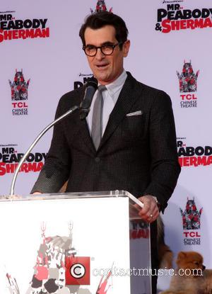 Ty Burrell - Mr Peabody paw print ceremony at the TCL Chinese Theater with sidekick Sherman and his canine friends...