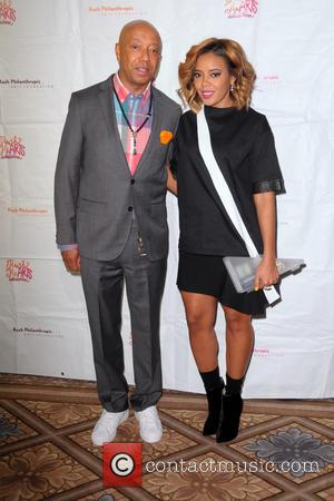 Russell Simmons and Angela Simmons - Rush HeARTS Education Luncheon - Red Carpet Arrivals - Manhattan, New York, United States...