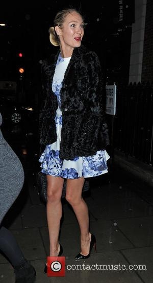 Candice Swanepoel - Supermodel Candice Swanepoel is spotted departing the Bottletop launch party in Mayfair last night . - LONDON,...