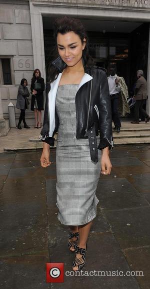 Samantha Barks - LFW a/w 2014 - Emilia Wickstead - Outside Arrivals - London, United Kingdom - Saturday 15th February...