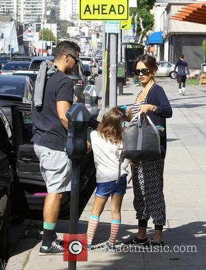 Jessica Alba, Cash Warren and Honor Warren