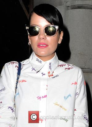 Lily Allen and Lily Allen - Celebrities attend LFW a/w 2014: House of Holland - catwalk show at BFC Showspace,...