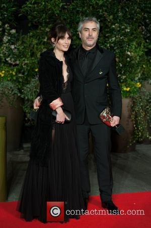 Alfonso Cuaron and Sheherazade Goldsmith - EE British Academy Film Awards (BAFTA) after-party held at the Grosvenor House - Arrivals....