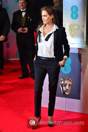 ANGELINA JOLIE - EE British Academy Film Awards (BAFTA) 2014 held at the Royal Opera House - Arrivals - London,...