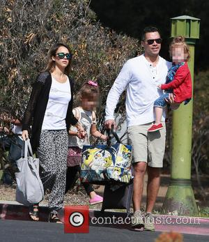 Jessica Alba, Honor Marie Warren, Cash Warren and Haven Garner Warren