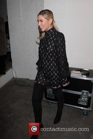 Abbey Clancy - London Fashion Week Autumn/Winter 2014 - Giles - Backstage - London, United Kingdom - Monday 17th February...