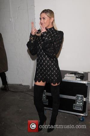 Abbey Clancy - London Fashion Week Autumn/Winter 2014 - Giles - Backstage - London, United Kingdom - Monday 17th February...