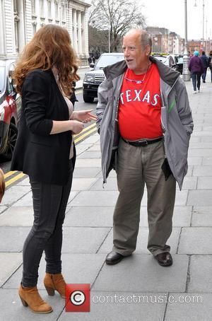 Richard Dreyfuss - Richard Dreyfuss arrives at The Merrion Hotel Dublin with his wife Svetlana Dreyfuss. Dreyfuss is in the...