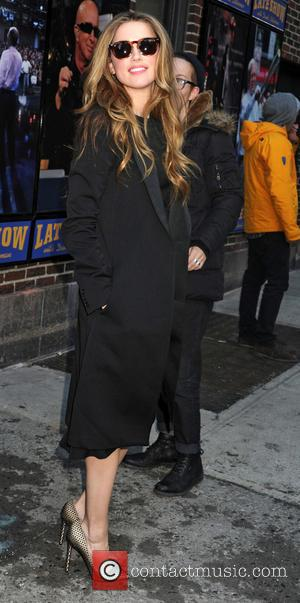 Amber Heard - 'The Late Show with David Letterman' at the Ed Sullivan Theater - Arrivals - New York, New...
