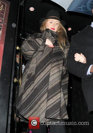 Adele Adkins - Adele seen leaving a Prince gig at the famous Ronnie Scott's Jazz Club in Soho, London -...