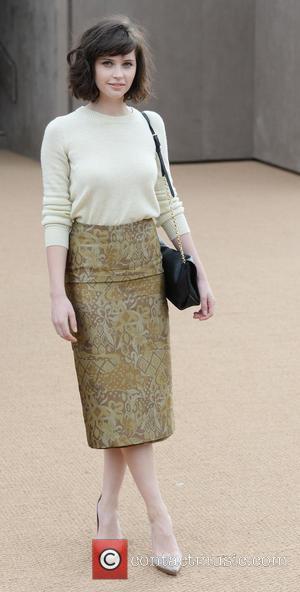 Felicity Jones - London Fashion Week Autumn/Winter 2014 - Burberry Prorsum - Arrivals - London, United Kingdom - Monday 17th...