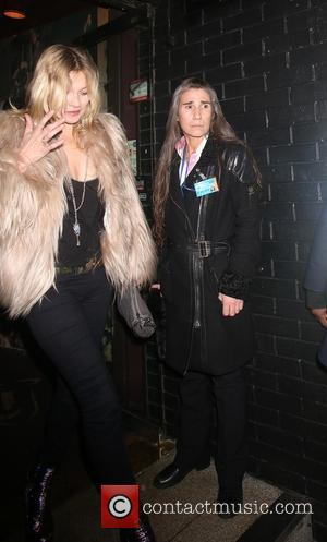 Kate Moss - Prince gig at Ronnie Scott's in Soho - Outside Arrivals and departures - London, United Kingdom -...