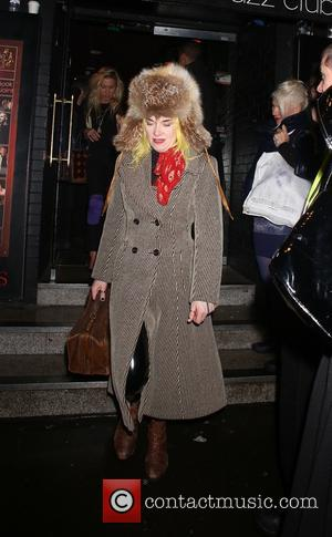 Pam Hogg - Prince gig at Ronnie Scott's in Soho - Outside Arrivals and departures - London, United Kingdom -...