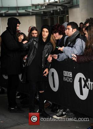 The 1975 - Celebrities at the BBC Radio 1 studios - London, United Kingdom - Tuesday 18th February 2014