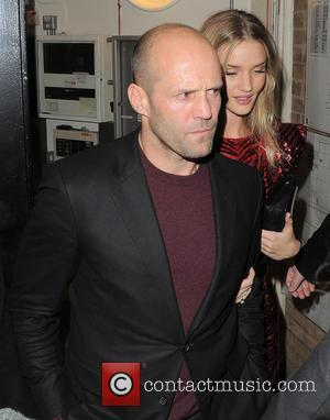 Jason Statham and Rosie Huntington-Whiteley - Celebrities attend a Brit Awards after party in Central London - London, United Kingdom...