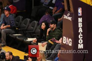 Sarah Silverman and Jason Sudeikis - Celebrities at the Lakers game.The Houston Rockets defeated the Los Angeles Lakers by the...