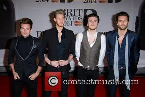 Lawson, Adam Pitts, Joel Peat, Ryan Fletcher and Andy Brown - The Brit Awards (Brit's) 2014 held at the O2...
