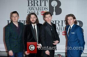 Arctic Monkeys - The 2014 Master Card Brit Awards held at the O2 - Arrivals. - London, United Kingdom -...