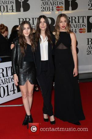 Haim - The Brit Awards (Brit's) 2014 held at the O2 - Arrivals - London, United Kingdom - Wednesday 19th...