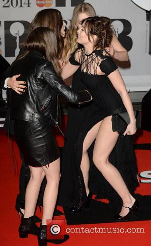 Haim and Daisy Lowe - The Brit Awards (Brit's) 2014 held at the O2 - Arrivals - London, United Kingdom...
