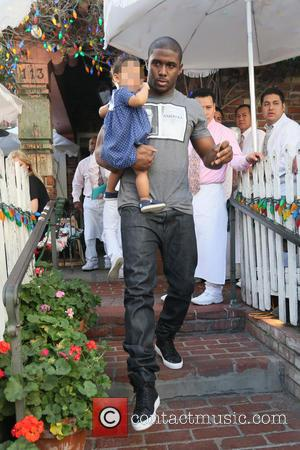 Reggie bush and Briseis Bush - Reggie Bush and partner Lilit Avagyan with their daughter Briseis seen leaving the Ivy...