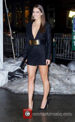Emily Didonato - Sports Illustrated Swimsuit Beach House - 2014 cover girls - Outside Arrivals - New York City, New...