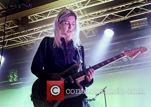 Emily Kokal - American indie rock band, Warpaint performing live on stage at the Liverpool O2 Academy - Liverpool, United...
