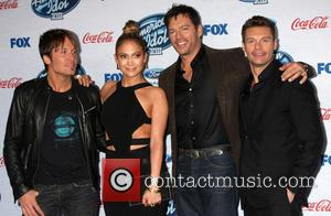 Keith Urban, Jennifer Lopez, Harry Connick Jr and Ryan Seacrest