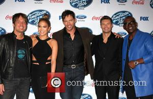 Keith Urban, Jennifer Lopez, Harry Connick Jr, Ryan Seacrest and Randy Jackson
