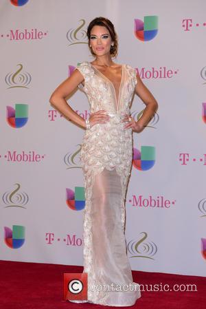 Zuleyka Rivera - Premio Lo Nuestro a la Musica Latina 2014 - Press Room - Miami, Florida, United States -...