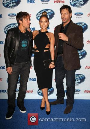 Jennifer Lopez, Ryan Seacrest, Randy Jackson, Keith Urban
