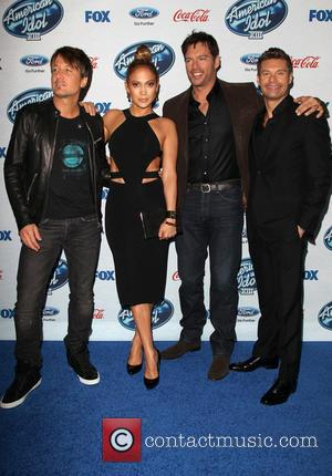 Keith Urban, Jennifer Lopez, Harry Connick, Jr. and Ryan Seacrest