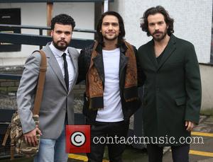 Luke Pasqualino, Santiago Cabrera and Howard Charles - Luke Pasqualino, Santiago Cabrera and Howard Charles outside the ITV Studios -...