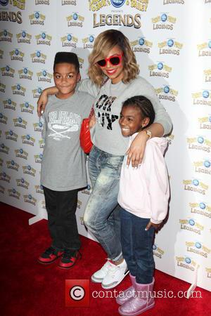 Ashanti and Family - Ringling Bros. and Barnum & Bailey presents Legends VIP night at Barclays Center - New York...