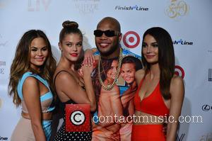 Chrissy Teigen, Nina Agdal, Flo Rida and Lily Aldridge