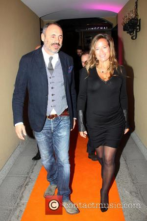 Riccardo Braccialini and Jade Jagger - Pregnant Jade Jagger is the special guest at the opening of the new Gherardini...