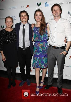 Jason Ritter, Nancy Morgan, Carly Ritter and Tyler Ritter - Huntington's Disease Society Of America 2014 Freeze HD Benefit -...