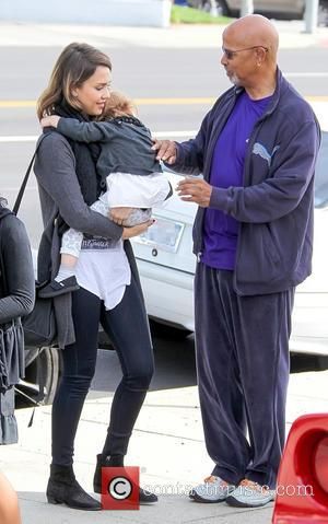 Jessica Alba, Haven Warren and Michael Warren