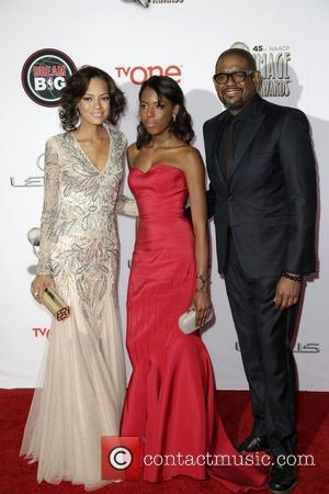 Keisha Whitaker, Autumn Whitaker and Forest Whitaker
