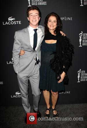 Debra Winger and Gideon Howard - The 16th Costume Designers Guild Awards - Arrivals - Beverly Hills, California, United States...
