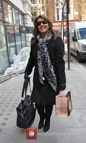 Jane McDonald - Jane Mc Donald seen arriving at Radio 2 - London, United Kingdom - Saturday 22nd February 2014