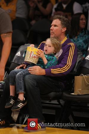 Will Ferrell - Celebrities out at Staples Center. The Brooklyn Nets defeated the Los Angeles Lakers by 107-102 - Los...