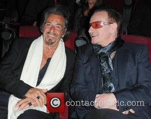 Bono and Al Pacino - 9th Annual Los Angeles Italia Film, Fashion and Art Fest opening night ceremony held at...